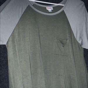 Long Olive Green Short Sleeve Dress